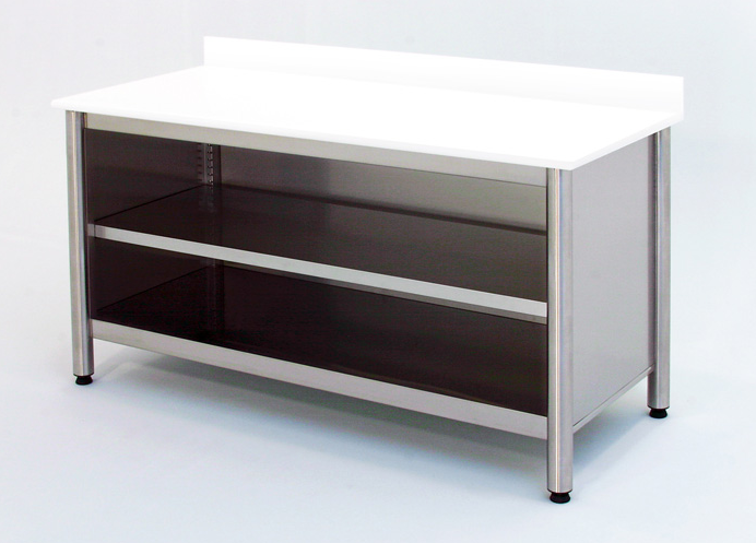 Desktop cabinets with stainless steel