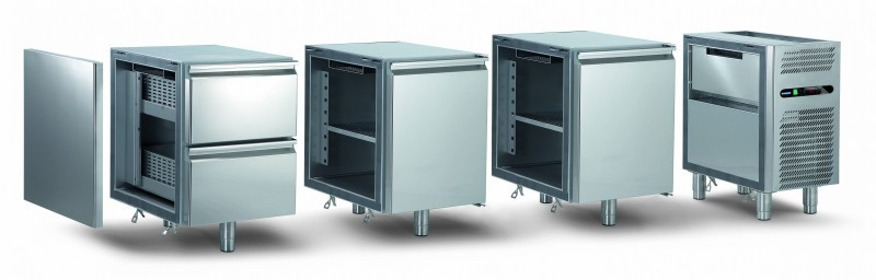 Refrigerated working tables professional range trm